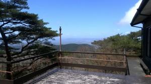 六甲山のびのびロッジからの風景